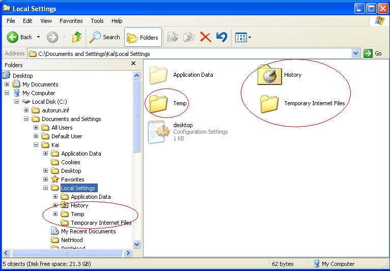 windows 7 professional how to delete temporary internet files