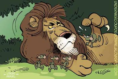 Un dernier coup de gomme le lion et le rat - Image le lion et le rat ...