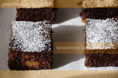 Brownie de pltano (con pltano confitado)