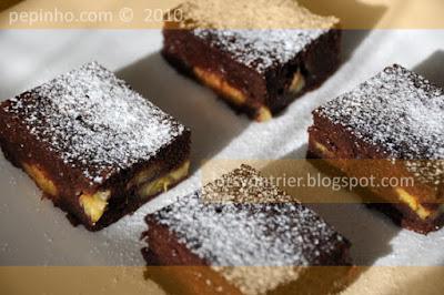 Brownie de plátano (con plátano confitado)