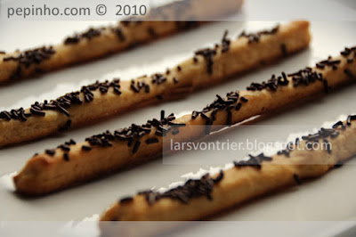 Grissini dulce con chocolate