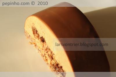 Barra de café y ron con crujiente y cobertura de chocolate y café
