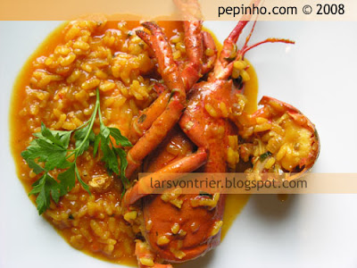 Arroz con bogavante (caldoso)
