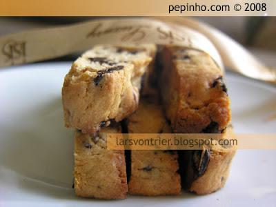 Biscotes de chocolate blanco y negro