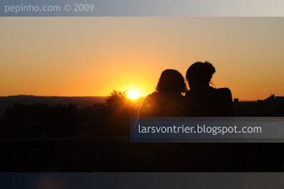 Puesta de sol desde la Alameda, Santiago