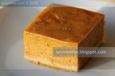 Pastel de calabaza y naranja