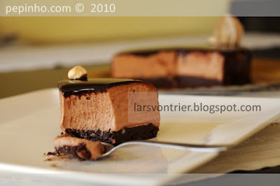 Tarta de chocolate y pralin