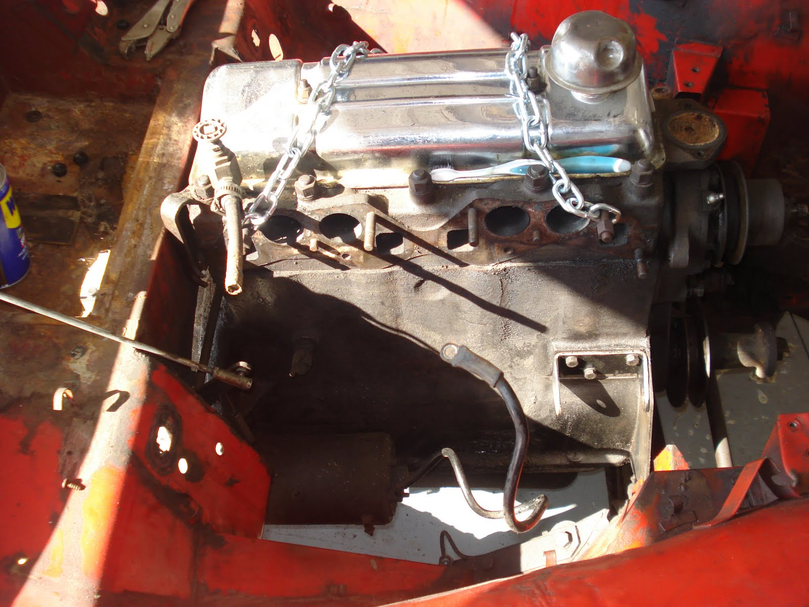 1962 TR3 Restoration  Removing the engine and transmission