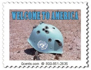 un blue helmets attacking america