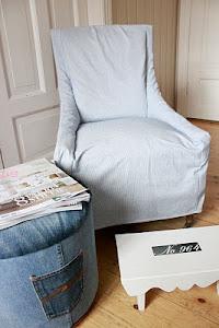 IDÈ-PUFFEN viser hvordan man på en enkel måte lager løst trekk til stoler.