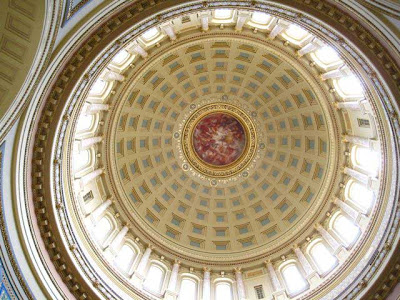 Inside of a dome
