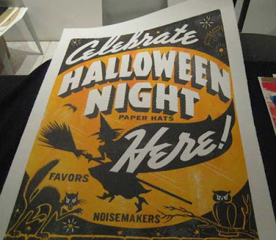 Orange and black Celebrate Halloween poster