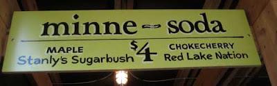 Minne-Soda sign