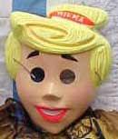 Vintage plastic Wilma Flintsone mask