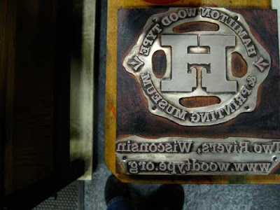 Printing plate of the logo of the Hamilton Wood Type museum