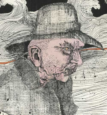 Close up of a man's head from the cover