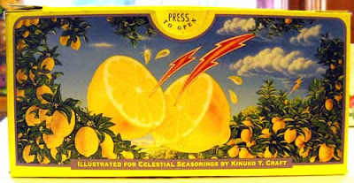 Square on image of the original illustration, with lightning bolts and lemons