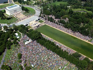 Restore America rally photo from above, Lincoln Memorial