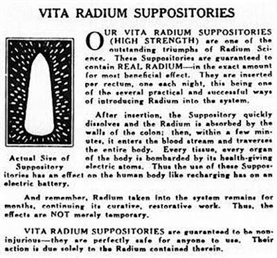 Ad for radium suppositories