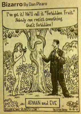 Bizarro cartoon: Adman and Eve