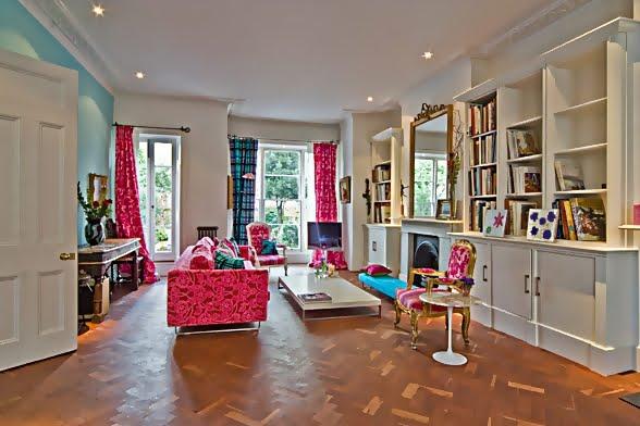 Large and Colouful House on Portland Road in London 1 - Renkli Ya�am Alanlar� Sevenler ��in Rengarenk D��enmi� Bir Ev