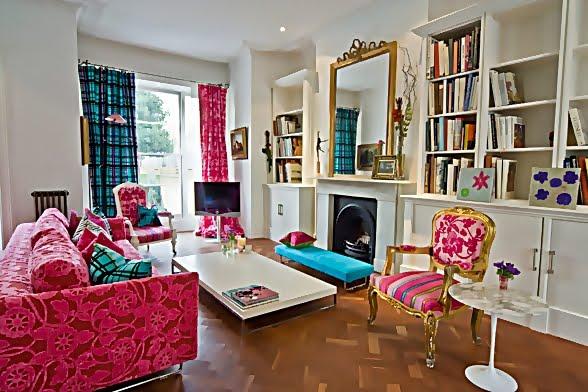 Large and Colouful House on Portland Road in London 2 - Renkli Ya�am Alanlar� Sevenler ��in Rengarenk D��enmi� Bir Ev