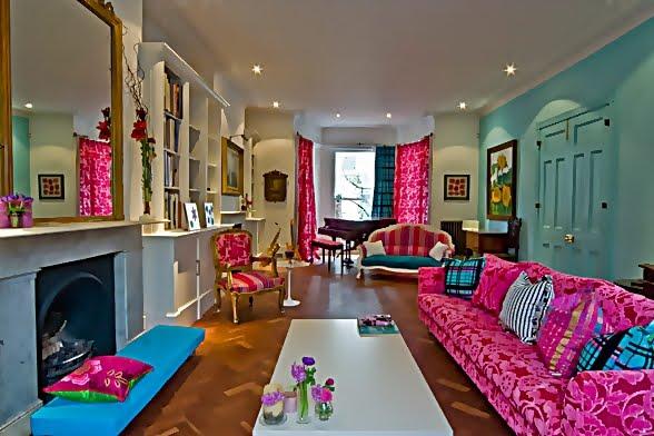 Large and Colouful House on Portland Road in London 4 - Renkli Ya�am Alanlar� Sevenler ��in Rengarenk D��enmi� Bir Ev