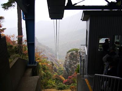 寒霞渓の紅葉ロープウェイ