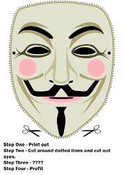 Construye tu propia careta y tráela a la manifestacióni