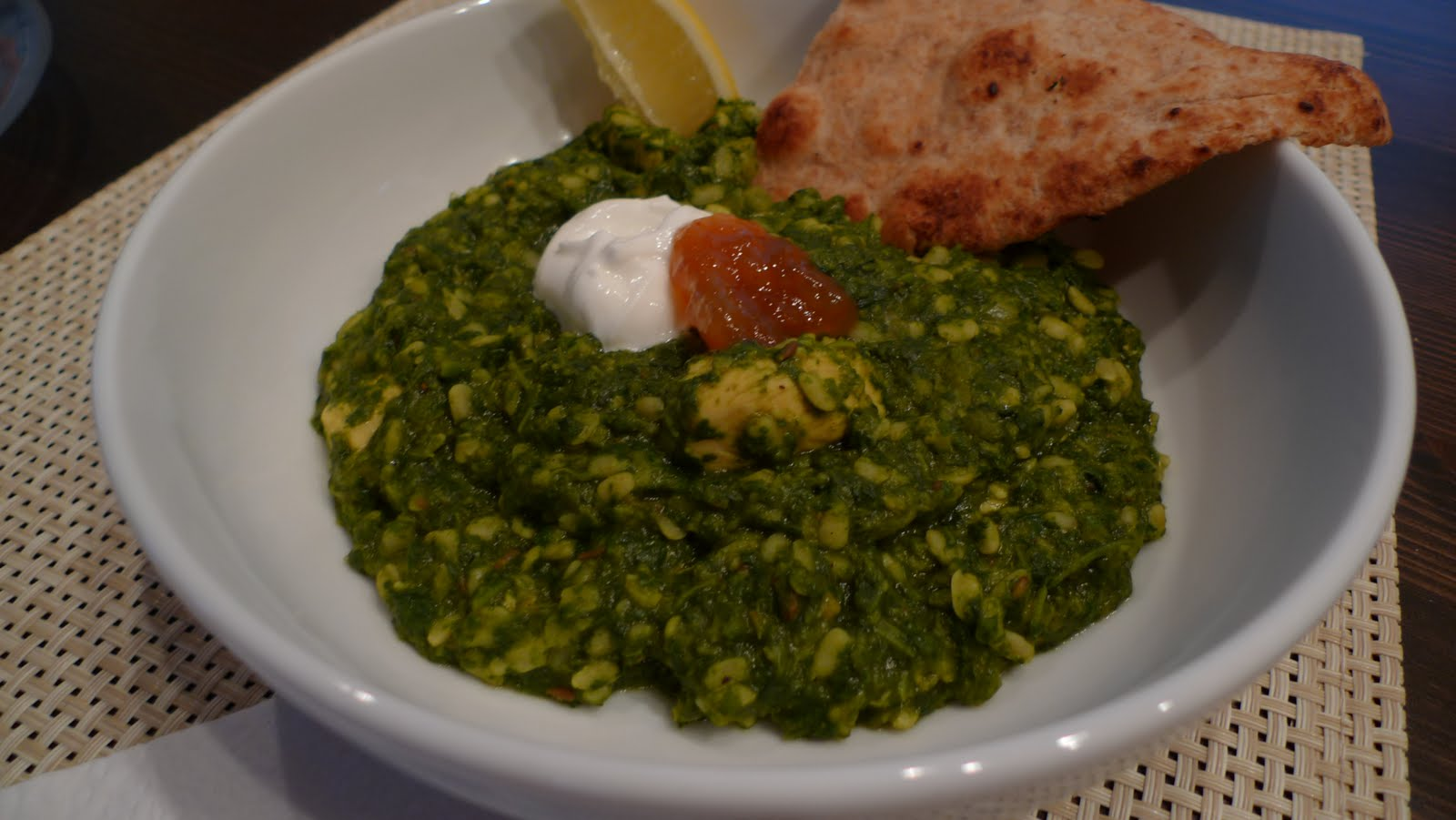 A mingling of tastes chicken saag with dal chicken saag with dal forumfinder Images