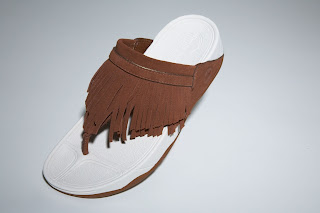 Leather fringe FitFlops