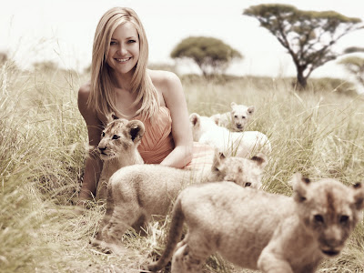 Kate Hudson in Africa for hair campaign