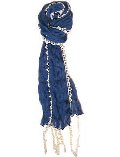 Amici blue scarf, $18