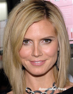 Heidi Klum in shimmery make-up