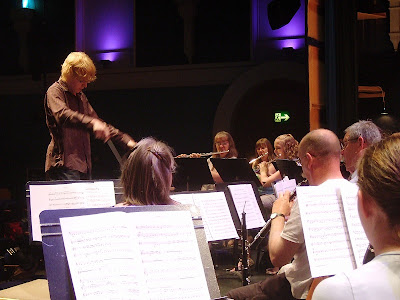 lloyd coleman conducting beenham band at newbury corn exchange