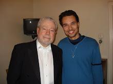 Com Nelson Freire depois de um concerto em Bucareste (Cu Nelson Freire, după unui concert)