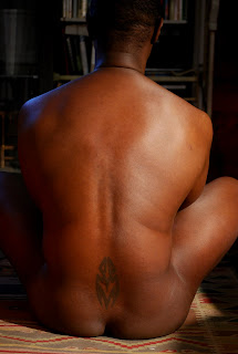 naked back of black man