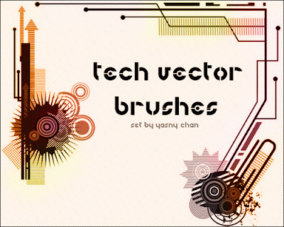 Tech Vector Photoshop Brushes