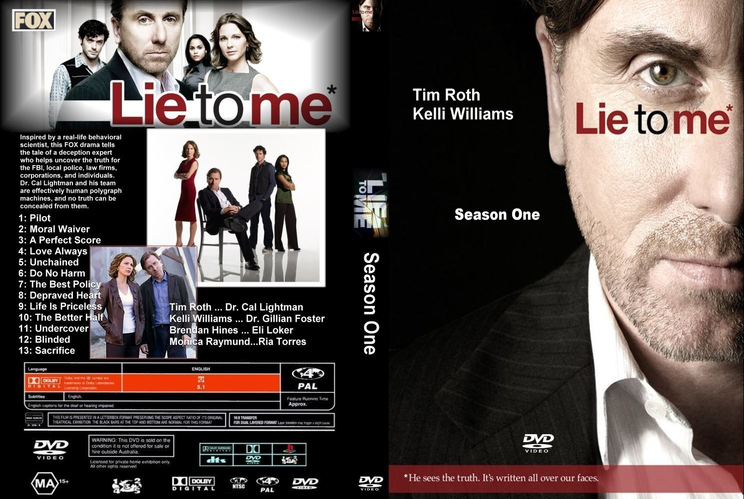 Lie To Me Season 1 Custom %5Bcdcovers cc%5D front Lie To Me 1º Temporada Torrent   Legendado