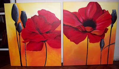 Flores para cuadros imagui for Fotos de cuadros abstractos sencillos