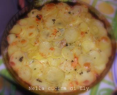 Nella cucina di Ely: Sono in LINEA....... con il tortino di patate e gorgonzola