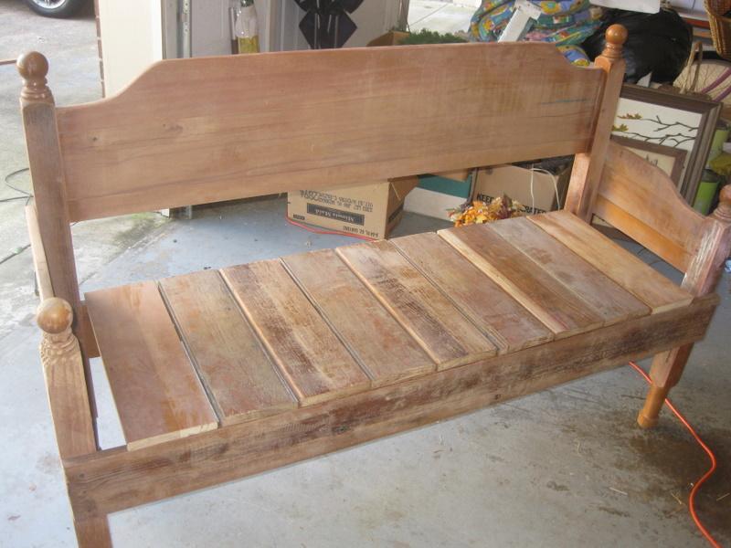 diy bench from headboard diy with headboard bench