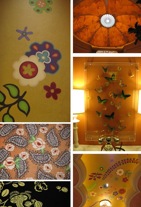 Wynn More pattern details seen throughout the hotel