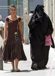 Bare skin or Burqa?