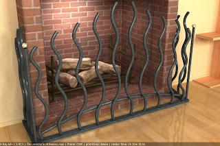 Protector de chimenea y marco para espejo de pared dreambox agencia de dise o y dise o 3d para - Protector de chimenea ...