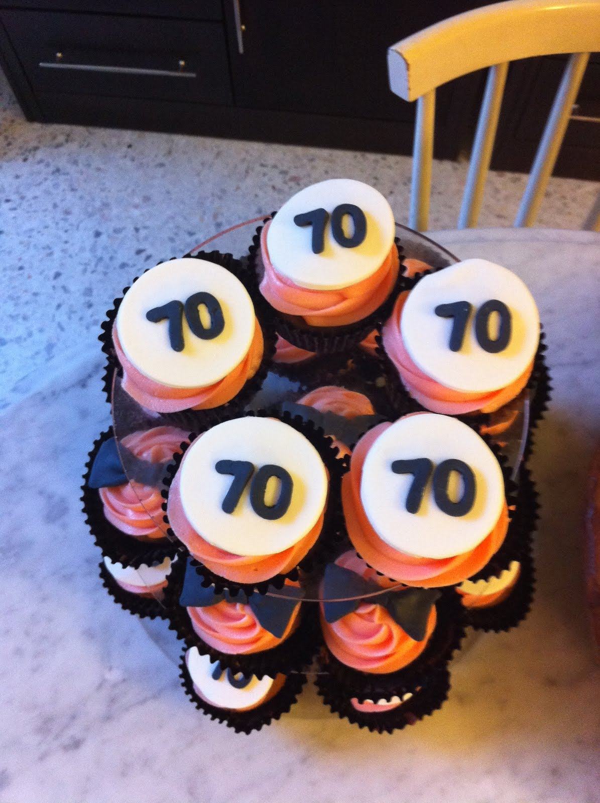 Cake In A Cup Daddy S 70th Birthday Cupcakes