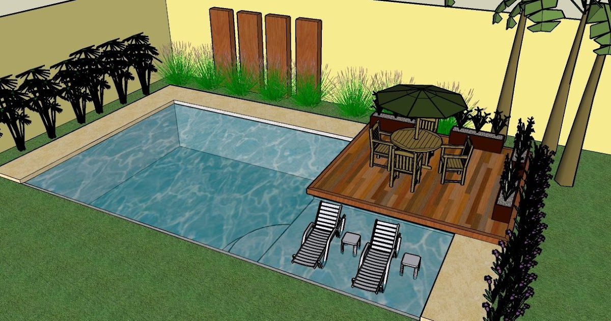 Jardines exclusivos dise o de una pileta en 3d for Piletas para jardines pequenos