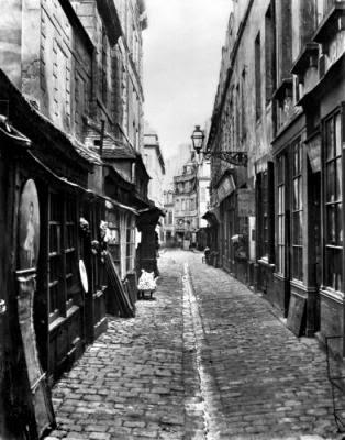 Charles Marville, Rue de la Bûcherie, 1865-1869