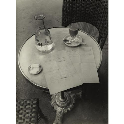 Brassai, The Way a Poem of Ady's Began on a Cafe Table in Paris, 1928