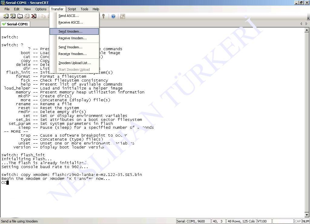 File transfer via XMODEM YMODEM - MKT-Sys